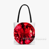 Ruby Diamond Custom Personalized Tote Bag Polyester with Small Medium Large Size