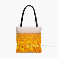 Beer Custom Personalized Tote Bag Polyester with Small Medium Large Size