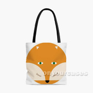Fox Custom Personalized Tote Bag Polyester with Small Medium Large Size