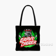 Grave Digger Monster Truck Custom Personalized Tote Bag Polyester with Small Medium Large Size
