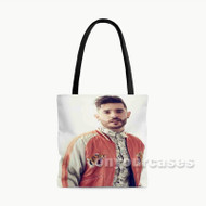 Jon Bellion Custom Personalized Tote Bag Polyester with Small Medium Large Size