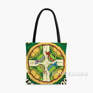 Pizza TMNT Custom Personalized Tote Bag Polyester with Small Medium Large Size