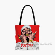 Post Malone Psycho Custom Personalized Tote Bag Polyester with Small Medium Large Size