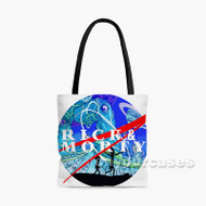 Rick and Morty NASA Custom Personalized Tote Bag Polyester with Small Medium Large Size