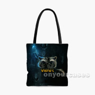 Rocket Raccoon Infinity War Custom Personalized Tote Bag Polyester with Small Medium Large Size