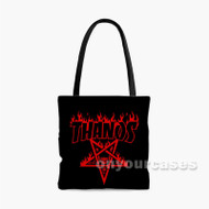 Thanos Infinity War 2 Custom Personalized Tote Bag Polyester with Small Medium Large Size