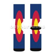colorado flag Custom Sublimation Printed Socks Polyester Acrylic Nylon Spandex with Small Medium Large Size