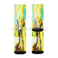 goku ssj 1 Custom Sublimation Printed Socks Polyester Acrylic Nylon Spandex with Small Medium Large Size