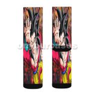 goku ssj 4 Custom Sublimation Printed Socks Polyester Acrylic Nylon Spandex with Small Medium Large Size