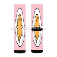 gudetama Custom Sublimation Printed Socks Polyester Acrylic Nylon Spandex with Small Medium Large Size