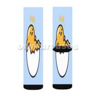 gudetama sigh Custom Sublimation Printed Socks Polyester Acrylic Nylon Spandex with Small Medium Large Size