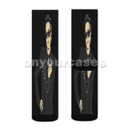 Kris Jenner Custom Sublimation Printed Socks Polyester Acrylic Nylon Spandex with Small Medium Large Size
