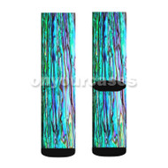 mother of pearl Custom Sublimation Printed Socks Polyester Acrylic Nylon Spandex with Small Medium Large Size