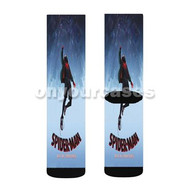 Spider Man Into the Spider Verse Custom Sublimation Printed Socks Polyester Acrylic Nylon Spandex with Small Medium Large Size