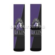 Colorado Rockies MLB Custom Sublimation Printed Socks Polyester Acrylic Nylon Spandex with Small Medium Large Size