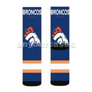 Denver Broncos NFL Custom Sublimation Printed Socks Polyester Acrylic Nylon Spandex with Small Medium Large Size