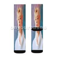 Exo Baekhyun Custom Sublimation Printed Socks Polyester Acrylic Nylon Spandex with Small Medium Large Size