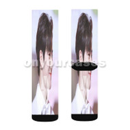 Exo Suho Custom Sublimation Printed Socks Polyester Acrylic Nylon Spandex with Small Medium Large Size