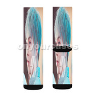 Exo Xiumin Custom Sublimation Printed Socks Polyester Acrylic Nylon Spandex with Small Medium Large Size