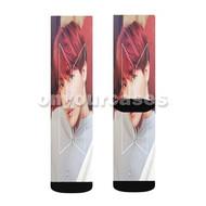 J Hope BTS Custom Sublimation Printed Socks Polyester Acrylic Nylon Spandex with Small Medium Large Size