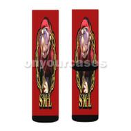 RAPPER JEFFY Custom Sublimation Printed Socks Polyester Acrylic Nylon Spandex with Small Medium Large Size