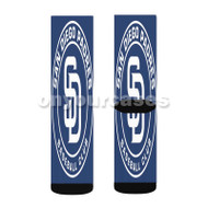 San Diego Padres MLB Custom Sublimation Printed Socks Polyester Acrylic Nylon Spandex with Small Medium Large Size