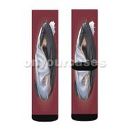 Toothless Yin Yang Custom Sublimation Printed Socks Polyester Acrylic Nylon Spandex with Small Medium Large Size