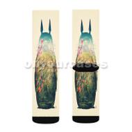 Totoro Custom Sublimation Printed Socks Polyester Acrylic Nylon Spandex with Small Medium Large Size