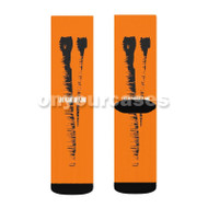Vlone Custom Sublimation Printed Socks Polyester Acrylic Nylon Spandex with Small Medium Large Size