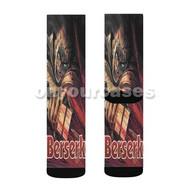 Berserk Custom Sublimation Printed Socks Polyester Acrylic Nylon Spandex with Small Medium Large Size