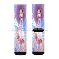 Edna Tales of Zestiria The X Custom Sublimation Printed Socks Polyester Acrylic Nylon Spandex with Small Medium Large Size