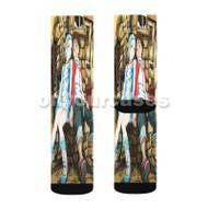 Eureka Seven 3 Custom Sublimation Printed Socks Polyester Acrylic Nylon Spandex with Small Medium Large Size