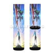 Eureka Seven Custom Sublimation Printed Socks Polyester Acrylic Nylon Spandex with Small Medium Large Size