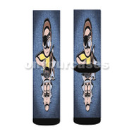 Evil Morty Rick and Morty Custom Sublimation Printed Socks Polyester Acrylic Nylon Spandex with Small Medium Large Size