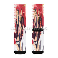 Gurren Lagann Sexy Custom Sublimation Printed Socks Polyester Acrylic Nylon Spandex with Small Medium Large Size