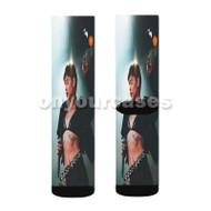 Kehlani 2 Custom Sublimation Printed Socks Polyester Acrylic Nylon Spandex with Small Medium Large Size