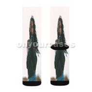 Kehlani 3 Custom Sublimation Printed Socks Polyester Acrylic Nylon Spandex with Small Medium Large Size
