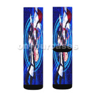 Kirito and Asuna Sword Art Online Movie Ordinal Scale Custom Sublimation Printed Socks Polyester Acr with Small Medium Large Size