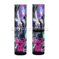 Mob Psycho 100 Custom Sublimation Printed Socks Polyester Acrylic Nylon Spandex with Small Medium Large Size