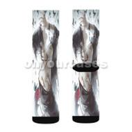 Tokyo Ghoul Uta Custom Sublimation Printed Socks Polyester Acrylic Nylon Spandex with Small Medium Large Size