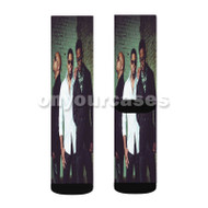 Boyz II Men Custom Sublimation Printed Socks Polyester Acrylic Nylon Spandex with Small Medium Large Size