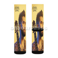 Kendji Girac Guitar Custom Sublimation Printed Socks Polyester Acrylic Nylon Spandex with Small Medium Large Size