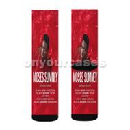 Moses Sumney Australian Tour 2017 Custom Sublimation Printed Socks Polyester Acrylic Nylon Spandex with Small Medium Large Size