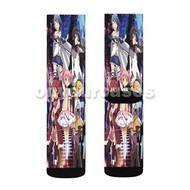 Puella Magi Madoka Magica Custom Sublimation Printed Socks Polyester Acrylic Nylon Spandex with Small Medium Large Size