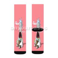 Rick and Morty Patrick Custom Sublimation Printed Socks Polyester Acrylic Nylon Spandex with Small Medium Large Size