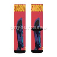 The Weeknd Starboy Custom Sublimation Printed Socks Polyester Acrylic Nylon Spandex with Small Medium Large Size