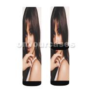 Camila Cabello Beautiful Custom Sublimation Printed Socks Polyester Acrylic Nylon Spandex with Small Medium Large Size