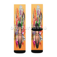 Chaz French Feat Curren y Invite Only Custom Sublimation Printed Socks Polyester Acrylic Nylon Spand with Small Medium Large Size