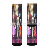 Death Parade Custom Sublimation Printed Socks Polyester Acrylic Nylon Spandex with Small Medium Large Size