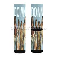 Fifth Harmony Down Custom Sublimation Printed Socks Polyester Acrylic Nylon Spandex with Small Medium Large Size